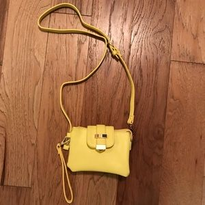 NWOT Charming Charlie's yellow clutch or crossbody